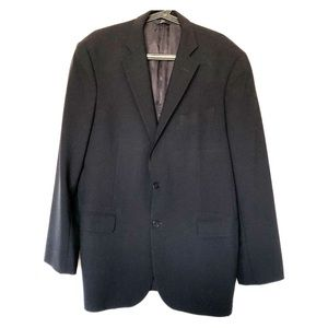 Brooks Brothers Navy Wool Blend Two Button Blazer